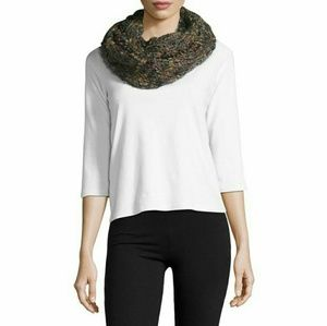 Steve Madden Chunky Green Knit Infinity Scarf